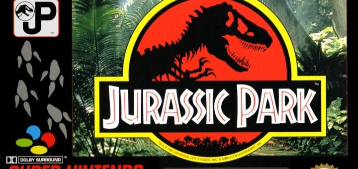 Jurrassic park SNES boxart