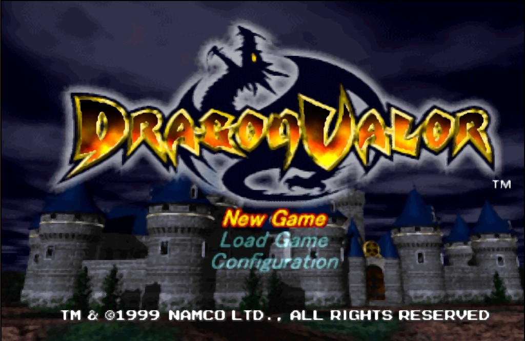 Dragon Valor Title Screen