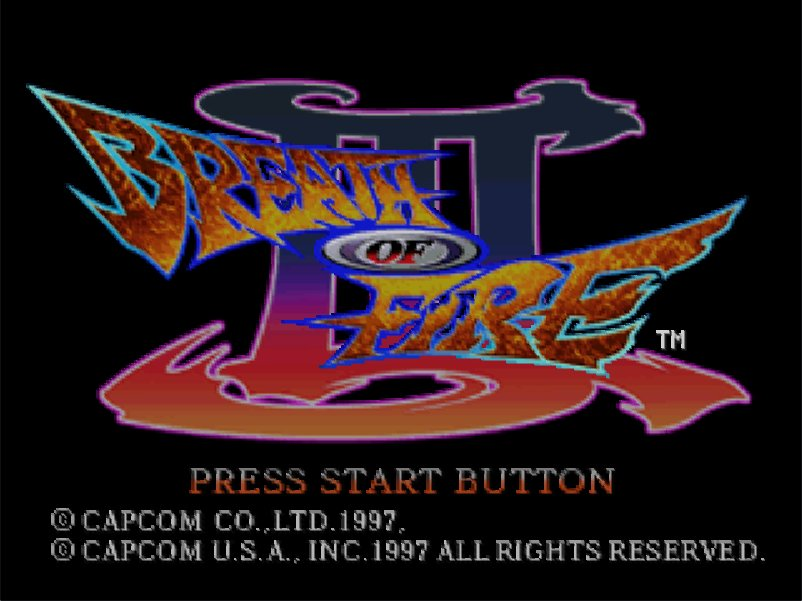 Breath of Fire 3Title Screen