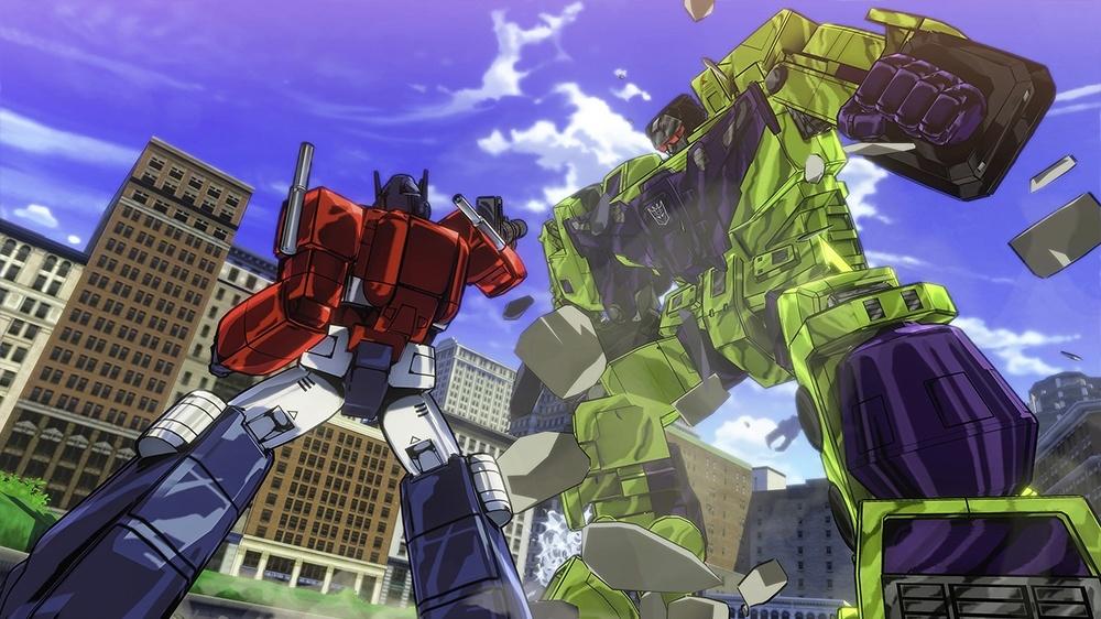 Optimus Prime Vs Devastator