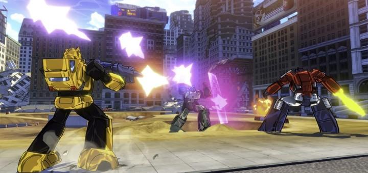 Transformers Devastation BumbleBee firing shots